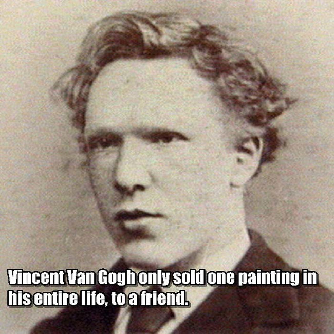 a look at the success and failures of vincent van gogh Guest post: the untold story behind vincent van gogh's successby jeff goins posted on july 21, 2016 by andrea r huelsenbeck false starts can lead to success.