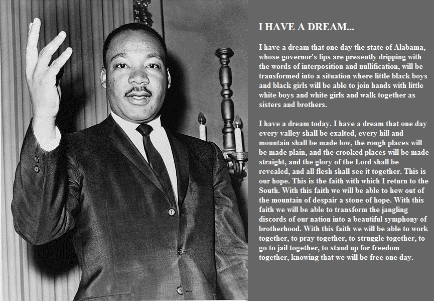 i have a dream speech The misremembering of 'i have a dream' fifty years after the march on washington, dr king's most famous speech, like his own political legacy, is widely misunderstood by gary younge twitter.
