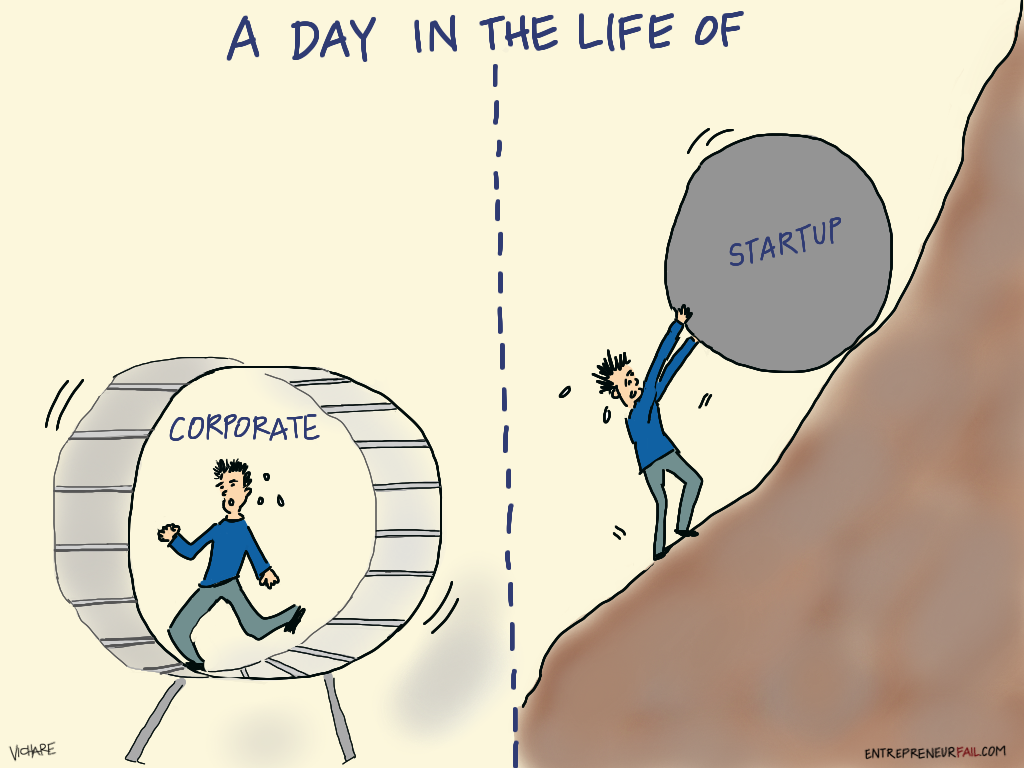 Startup or a Corporate