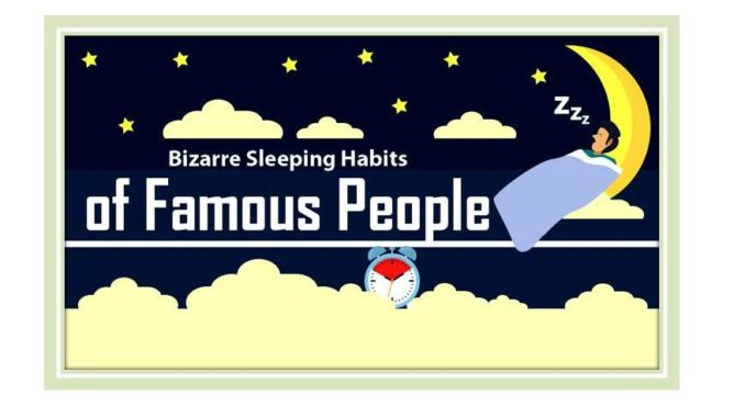 Bizarre Sleeping Habits of Famous Individuals