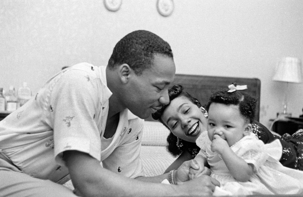 Martin Luther King, Jr. and his wife Coretta Scott King
