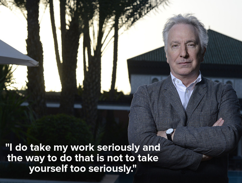 inspiring quotes by Alan Rickman 1
