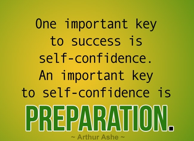 Self-Confidence - preparation