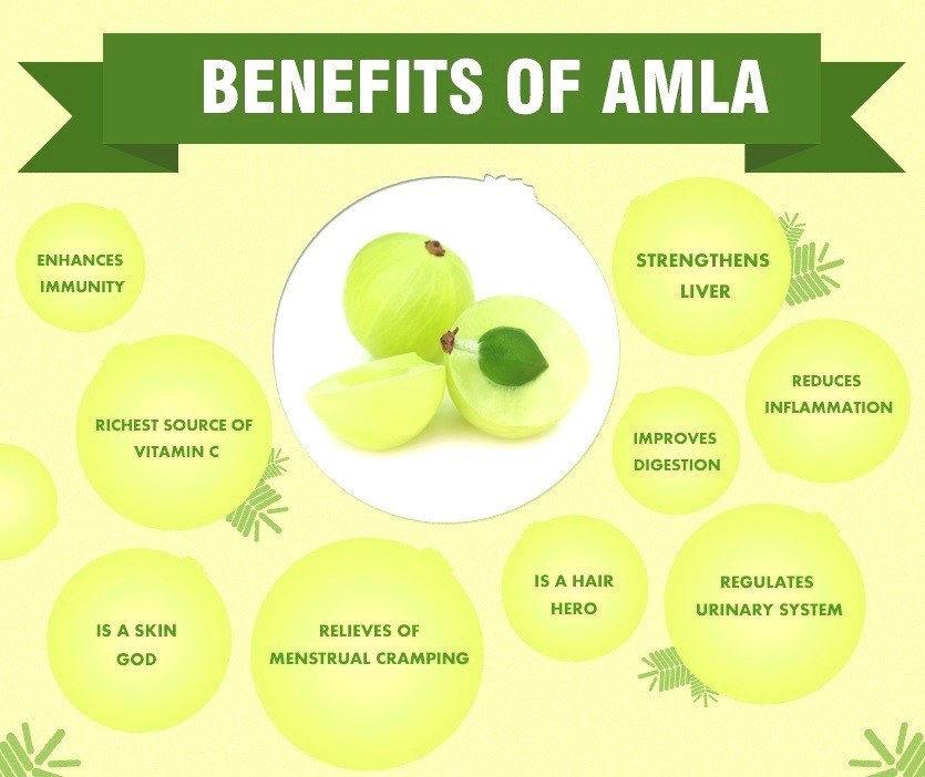 Top 10 Amazing Benefits Of Amla - The Indian Gooseberry