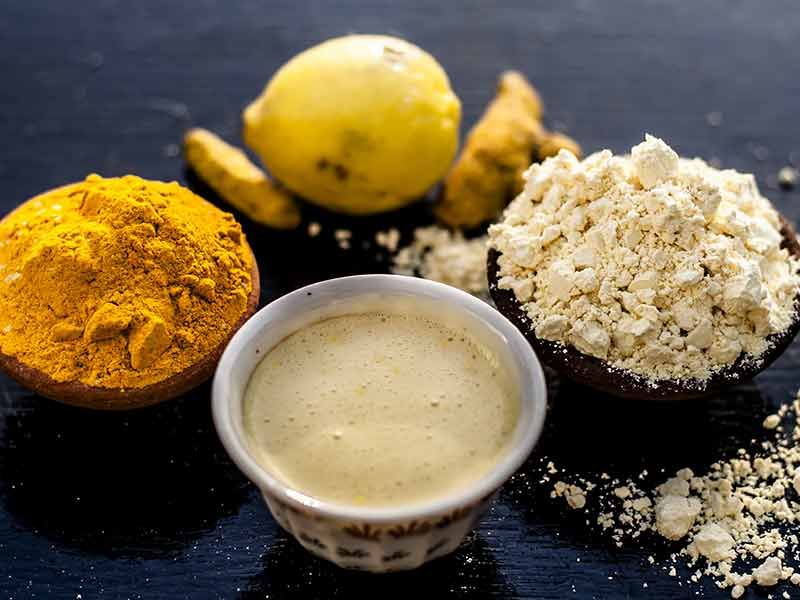 gram flour face pack benefits