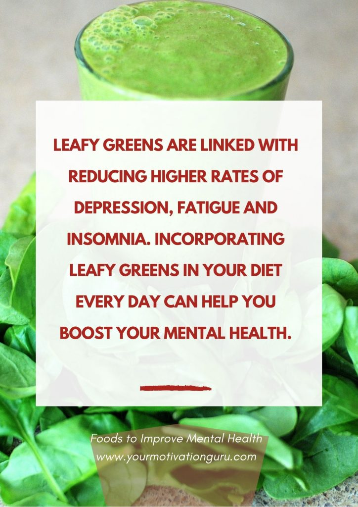 Foods to Improve Mental Health - leafy green