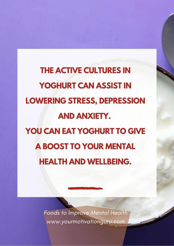 Foods to Improve Mental Health - yoghurt