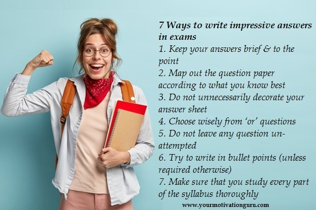 how to write Impressive Answers In Exams
